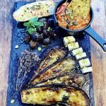 Order Aubergine, feta, olive and garlic bread Homemade food | Lori's Kitchen Sevenoaks