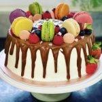 Macaroon Birthday Cake | Lori's Kitchen